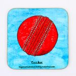 Magnetic Coaster – Cricket ball