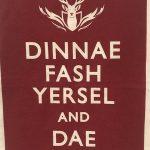Dinnae Fash Tea Towel