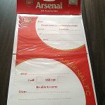 Arsenal birthday party invitation